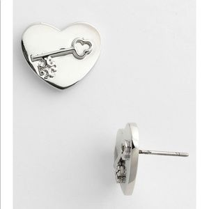 Tory Burch Louise Heart Stud Earrings